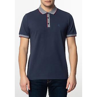 Merc RUPERT, Men's Plain Cotton Polo Shirt with Collar and Sleeve Contrast Details