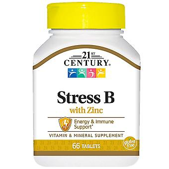21st century stress b with zinc, tablets, 66 ea