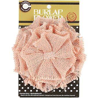 Burlap Flower Light Pink Burflwr 2597