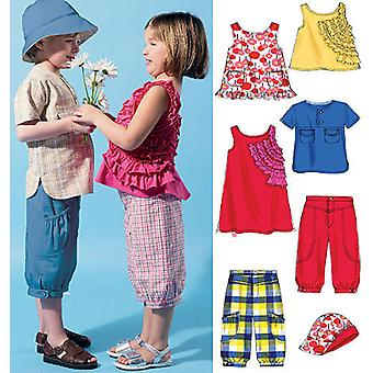 Toddlers' Children's Tops, Dress, Shorts And Hat  Cb 1  2  3 Pattern M6540  Cb0