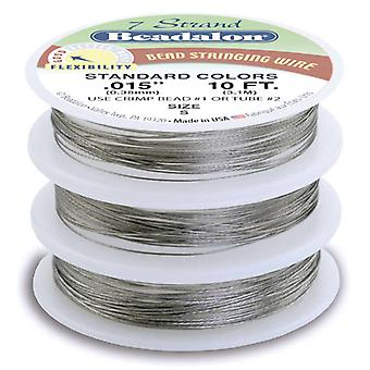 Stringing Wire 7 Strand Variety Pack 10Ft 3 Pkg Brilliant Jwvar07