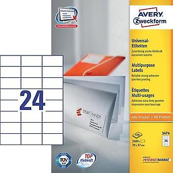 Avery 3474 printer label Avery-Zweckform 3474