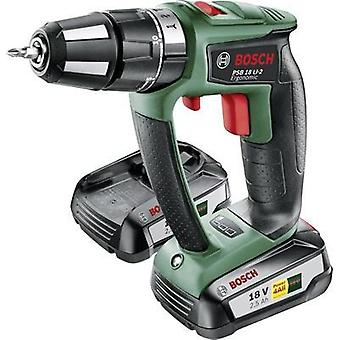 Bosch Home and Garden PSB 18 LI-2 Ergonomic Cordless impact driver 18 V 2.5 Ah Li-ion incl. spare battery, incl. case