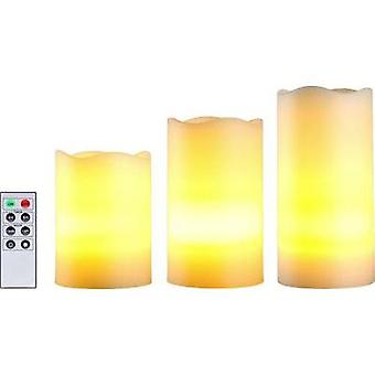 LED candles 3-piece set incl. timer Amber LED P
