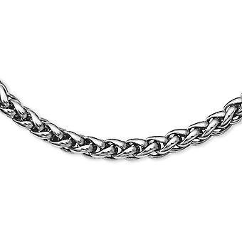 Lobster Claw chiusura lucido collana in acciaio - Lunghezza: 18-24