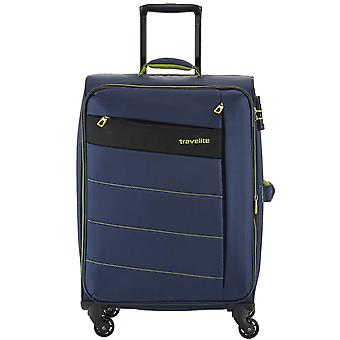 Travelite kite 4-roller soft luggage trolley suitcase M 64 cm