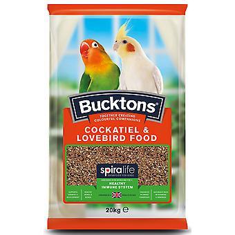 Bucktons Nymphensittich & Lovebird Essen mit Spiralife 20kg