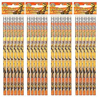 Dinosaur Pencil with eraser - Value Pack of 8