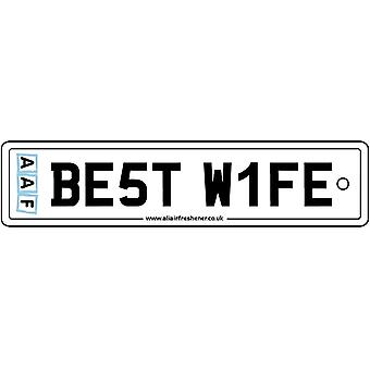 AAF - Best Wife Number Plate Car Air Freshener