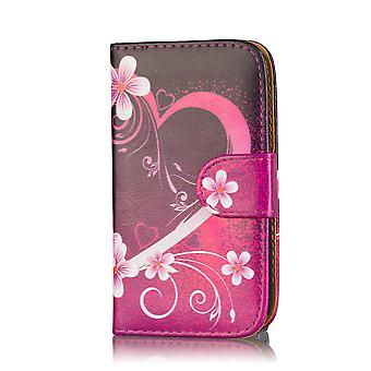 Diseño de libro de caja de cartera para Motorola Moto G2 2014 - corazón de amor