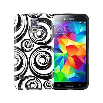 Xentris Soft Shell tilfældet for Samsung Galaxy S5 (cirkler)