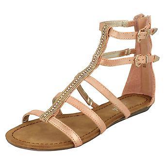 Damer Savannah dobbelt spænde gjorden juvel Fronted sandaler