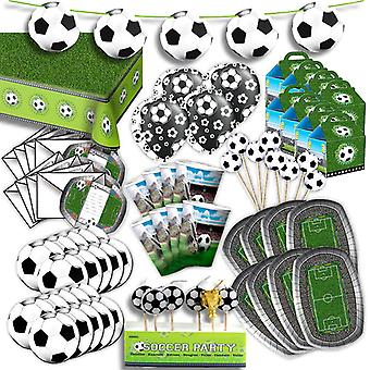 Football party Kit for 8 guests XL 84-teilig here is completely everything in football decoration party