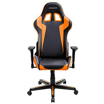DX Racer DXRacer OH/FH00/NO High-Back Gaming Chair Carbon Look Vinyl+PU(Black/Orange)