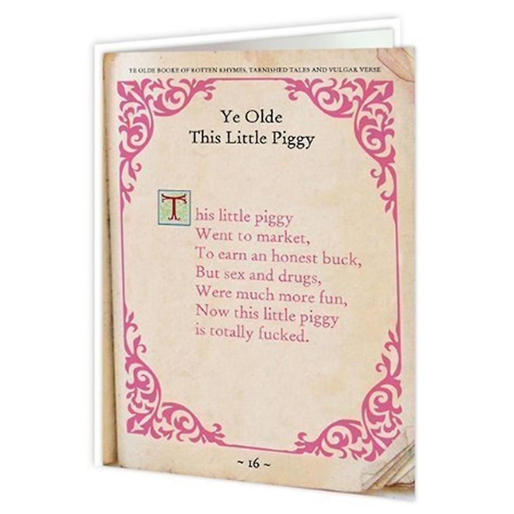 Brainbox Candy This Little Piggy Card