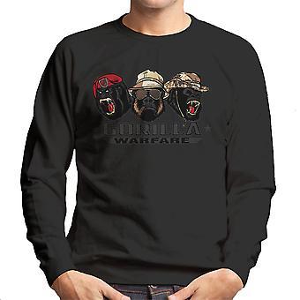 Gorilla krigsførelse mænds Sweatshirt
