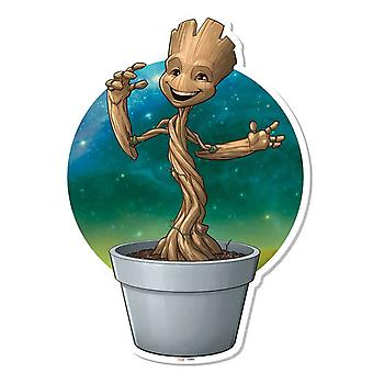 Baby Groot Plant Pot Wall Art 3D Effect hoeders van de Galaxy Vol. 2 kartonnen uitsnede