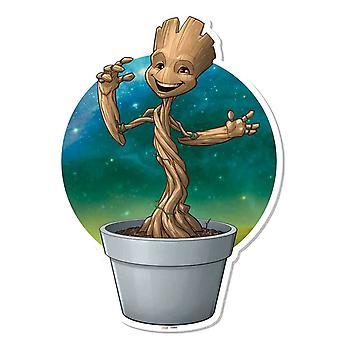 Bébé Groot plante Pot Wall Art effet 3D gardiens de la galaxie Vol. 2 découpe de carton