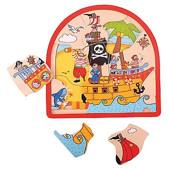 Bigjigs Toys Pirate Arched Puzzle