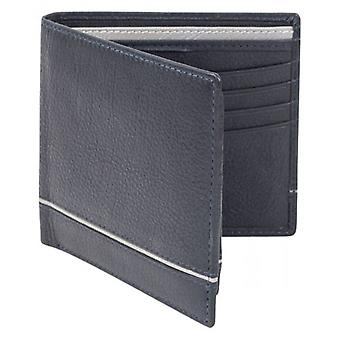 Dents Smooth Two Tone Removable Pass holder and RFID Blocking Wallet - Navy/Charcoal Grey