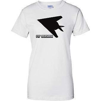 F117 Nighthawk attacco Stealth aerei - aerei USAF - Ladies T Shirt