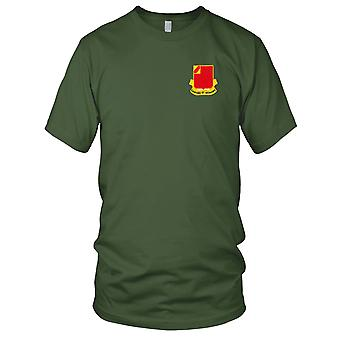 US Army - 22nd Field Artillery Regiment Embroidered Patch - Mens T Shirt