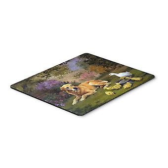Yellow Labrador and Chicks Mouse Pad, Hot Pad or Trivet