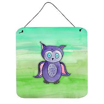 Purple Owl Watercolor Wall or Door Hanging Prints