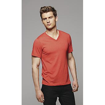 Canvas Triblend V-Neck Tee-CA3415
