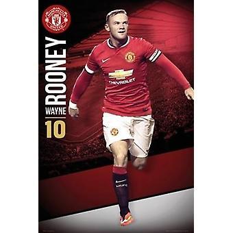 Manchester UTD Rooney 1415 Poster Poster afdrukken