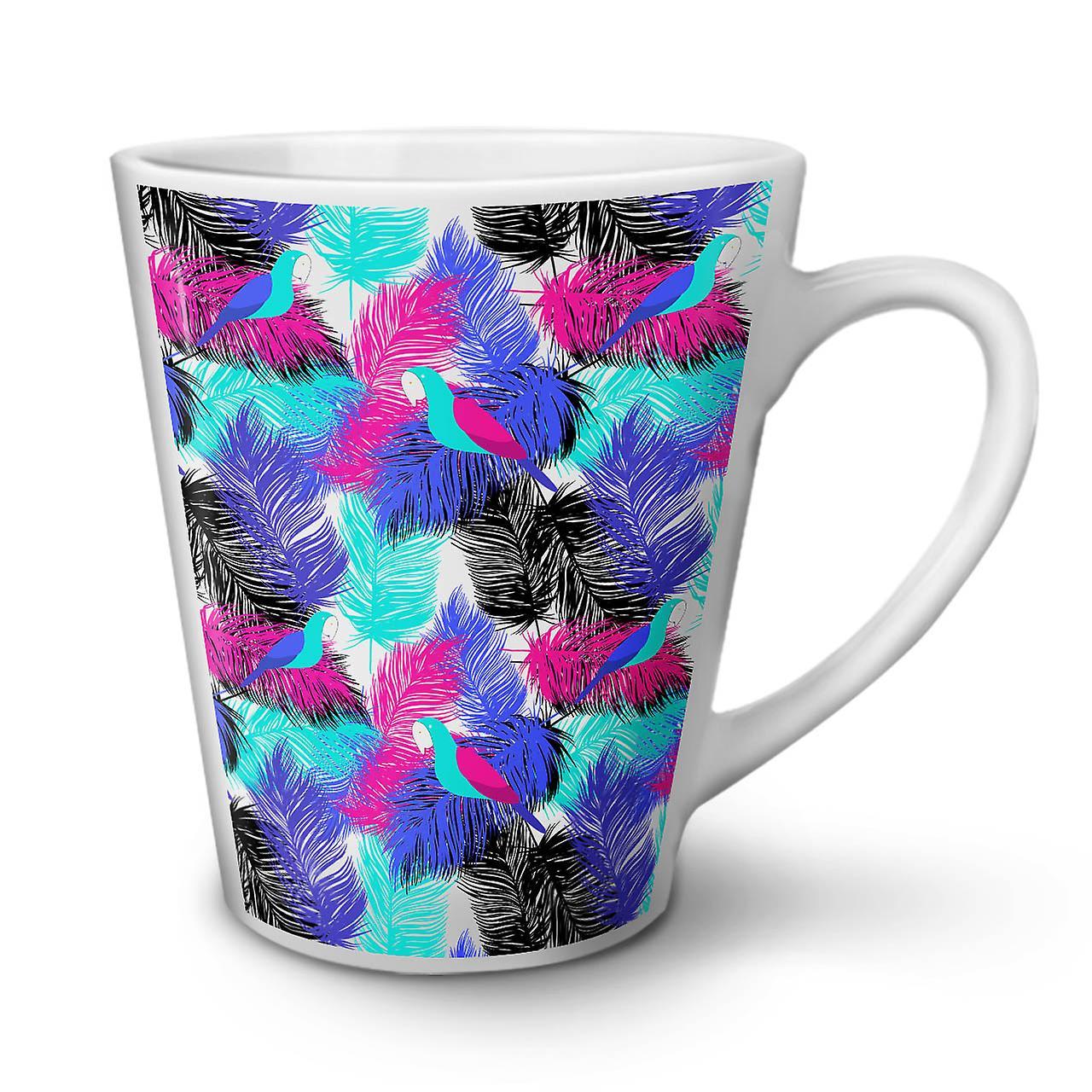 Nouvelle Blanche OzWellcoda Couleur 12 Café Tasse Plumes Latte Céramique De En UqzpMVS