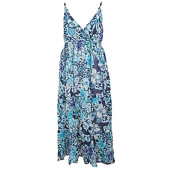 Womens/Ladies Floral Print Strappy Crossover Summer Dress