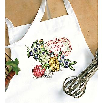 Tuscan Flavor Apron Stamped Cross Stitch  72 73884