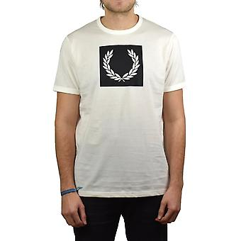 Fred Perry Printed Laurel Wreath T-Shirt (Light Ecru)