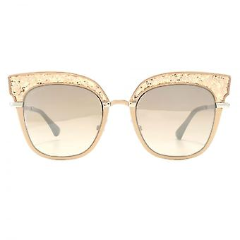 Jimmy Choo Rosy Sunglasses In Nude Palladium