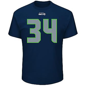 Majestätiska NFL skjorta - Seattle Seahawks #34 Thomas Rawls