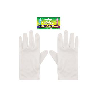Childrens Magicians Pair of White Gloves World Book Day Fancy Dress Accessory