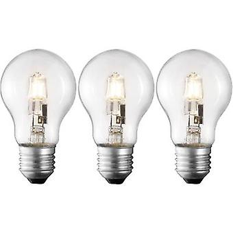 Eco halogen Sygonix 230 V E27 70 W Warm white EEC: C Pear shape dimmable 3 pc(s)