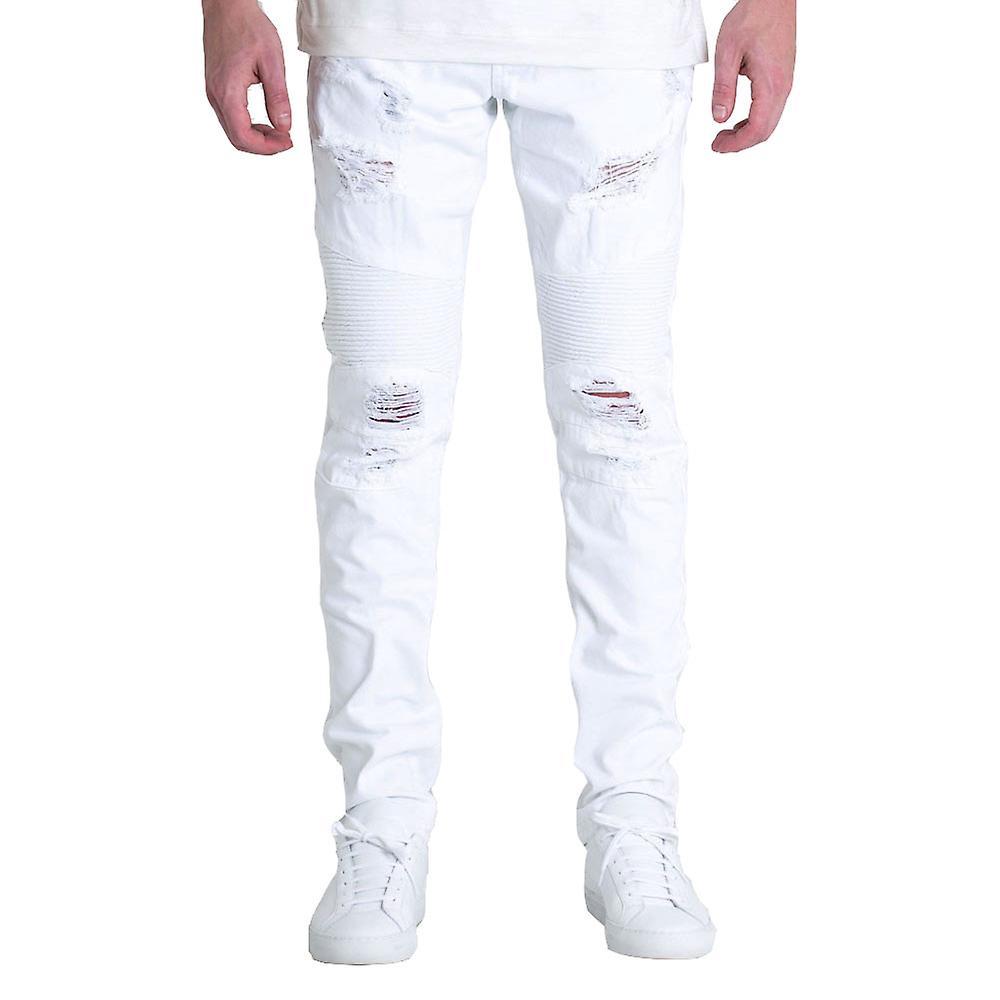 Embellir le motard Daytona Denim Jeans blanc