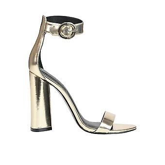 Kendall + Kylie women's MCGLCAT03257E gold leather sandals