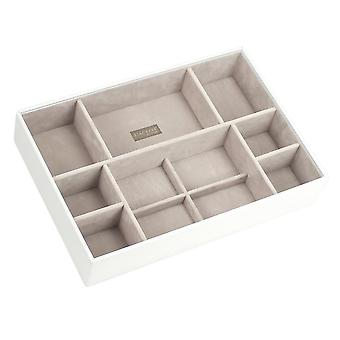 White & Grey Supersize Deep 11 Section Jewellery Tray