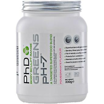 PhD Greens Ph-7 Pomegranate 330 gr (Sport , Weight loss , Low carb protein)
