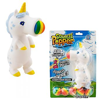 Cheatwell Games Unicorn Squeeze Popper -  2 Pack Soft Foam Shooter Bundle