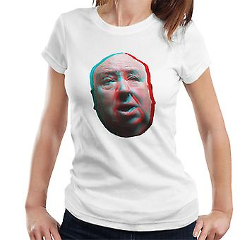 Alfred Hitchcock Face 3D Effect Women's T-Shirt