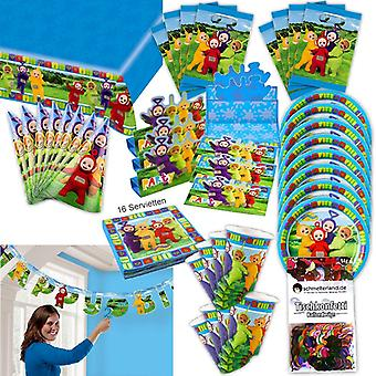 Teletubbies party set XL 61-teilig for 8 guests Teletubby decorating birthday party package