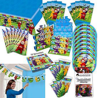Teletubbies Party Set XL 61-teilig für 8 Gäste Teletubby Deko Geburtstags Partypaket