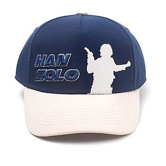 Star Wars Han Solo Embroidered Logo Adjustable Baseball Cap Blue Blue One Size