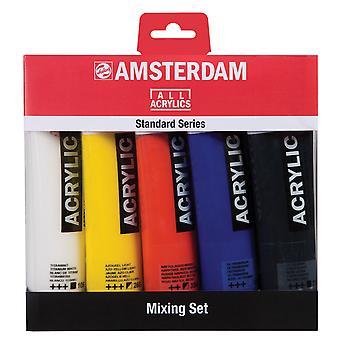 Amsterdam Standard Series Acrylic 5 x 120ml Mixing Set