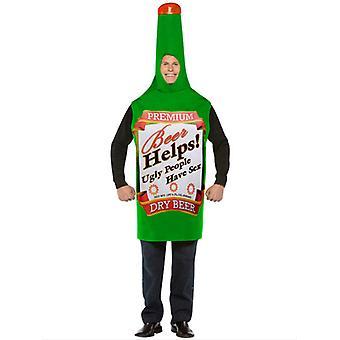 Disfraz de botella de cerveza 12345