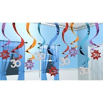 30 sospensione ricciolo decorazione festa continua 15 stringhe